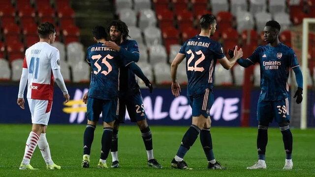 อาร์เซนอลผ่านเข้ารอบรองชนะเลิศยูฟ่ายูโรปาลีก